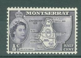 Montserrat: 1953/62   QE II - Pictorial   SG136b    ½c   [inscr. 'Colony']  MH - Montserrat