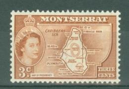 Montserrat: 1953/62   QE II - Pictorial   SG139    3c   [inscr. 'Presidency']  MH - Montserrat