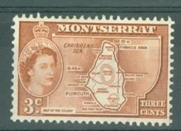 Montserrat: 1953/62   QE II - Pictorial   SG139a    3c   [inscr. 'Colony']  MH - Montserrat