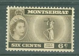 Montserrat: 1953/62   QE II - Pictorial   SG142    6c    Deep Bistre-brown  [inscr. 'Presidency']  MH - Montserrat