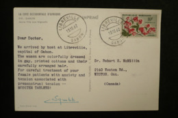 Gabon  CP Publicité Squibb (idem Ionyl En + Rare) 1962 Dear Doctor Libreville - Factories & Industries