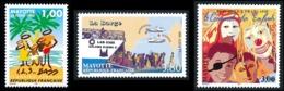 MAYOTTE 1998 - Yv. 54 55 Et 56 **   Cote= 5,60 EUR - Planning Familial, Carnaval Enfants, Bateau Barge  ..Réf.AFA23314 - Mayotte (1892-2011)