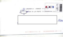 Lettre Flamme Chiffree Sous Code Symbole Inegalite Sur Timbre En Ligne Axe - Marcophilie (Lettres)