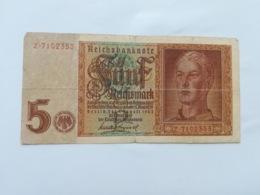 GERMANIA 5 REICHSMARK 1942 - [ 4] 1933-1945: Derde Rijk