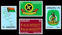 VANUATU 1981 - Yv. 631 632 633 634 ** TB  Cote= 6,00 EUR - Indépendance (4 Val.)  ..Réf.AFA23281 - Vanuatu (1980-...)