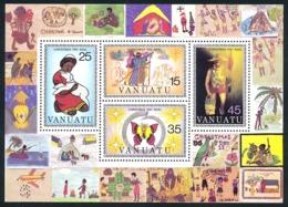 VANUATU 1981 - Yv. BF 2 ** TB  Cote= 4,75 EUR - Feuillet Noël 81 (4 Val.)  ..Réf.AFA23283 - Vanuatu (1980-...)