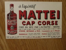 BUVARD   MATTEI CAP CORSE - Liquor & Beer