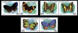 VANUATU 1983 - Yv. 666 à 671 ** TB  Cote= 7,25 EUR - Papillons (6 Val.)  ..Réf.AFA23287 - Vanuatu (1980-...)