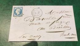 Timbre Sur Enveloppe Napoléon III - 1853-1860 Napoleon III