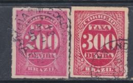Brésil Timbres-Taxe  N° 5 / 6 O  Partie De Série Les 2 Valeurs Oblitérations Légère Sinon TB - Dienstzegels