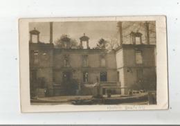 VENDRESSE BEAULNE (AISNE)  CARTE PHOTO DU CHATEAU OCCUPE PAR LE 144 EME D'INFANTERIE GUERRE DE 1914 1918 - Otros Municipios