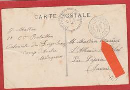 Diégo Suarez Cachet Du Camp D'Ambre Juillet 1911 Sur CP - Diégo-Suarez (1890-1898)