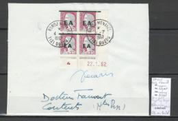 Algerie -EA - Devant De Lettre : Coin Daté + Autographe Decaris + Cachet De Bordj Menaiel + 1er Jour - Algeria (1924-1962)