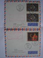 FRANCE - 6 Premiers Vols Des Années 1960 Dont Un Avec Un Timbre Possédant Une Variété ( Décalage Des Couleurs) 4 Photos - Storia Postale