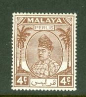 Malaya - Perlis: 1951/55   Raja Syed Putra   SG10   4c    MH - Perlis