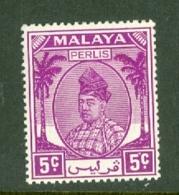 Malaya - Perlis: 1951/55   Raja Syed Putra   SG11   5c    MH - Perlis