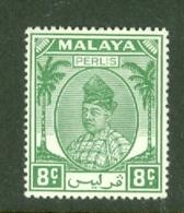 Malaya - Perlis: 1951/55   Raja Syed Putra   SG14   8c   Green   MH - Perlis