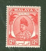 Malaya - Perlis: 1951/55   Raja Syed Putra   SG16   12c     MH - Perlis
