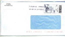 Lettre Flamme  Chiffree  Sous Code Symbole Inegalite  Sur Timbre En Ligne Chateau Bateau - Marcophilie (Lettres)