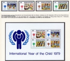 YEAR INTERN. OF CHILD - SINGAPORE - Mi. Nr.  335/338 + BF 11 - NH - (6532-14.) - Singapore (1959-...)