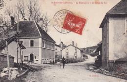 St ANTOINE (25) Cpa N&B - Ayant Voyagée - Fromagerie Et Rte Du Fort - Animation- YM - Sonstige Gemeinden
