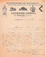 1902 - LA CHAISE-DIEU - Entreprise De Bâtiment - BOURDIER-DENOPS - Documents Historiques