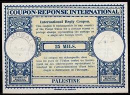 PALESTINE 1933  Rare First London Type Lo9 25 MILS. Int. Reply Coupon Reponse Antwortschein IAS IRC O JERUSALEM 9.9.33 - Palestine