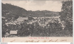 CASTRIES TOWN SAINTE LUCIA LUCIE 1903 PRECURSEUR TBE - Sainte-Lucie