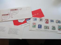 Canda 1963 Series 4 +5 Souvenir Card Gestempelt! Commemorative Postage Issues Im Originalen Umschlag! - Jahressätze Der Kanad. Post