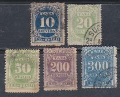 Brésil Timbres-Taxe  N° 18 / 20 + 22 / 23 O  Partie De Série Les 5 Valeurs Oblitérations Légères Sinon TB - Dienstzegels