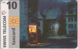 SUISSE - PHONE CARD - TAXCARD-CHIP * RARE ***  CABINE 10 Chf *** - Schweiz