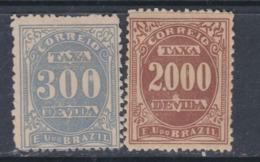 Brésil Timbres-Taxe  N° 23 +24  X  Partie De Série Les 2 Valeurs  Trace De Charnière Sinon TB - Dienstzegels