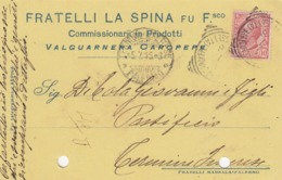 "VALGUARNERA CAROPEPE _ 1916  /   Cartolina Pubblicitaria  "" FRATELLI LA SPINA FU F.sco "" - Enna"