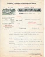 1923 - REVIN (08) ARTHUR MARTIN - Fonderie D'Appareils De Chauffage & De Cuisine - Documents Historiques