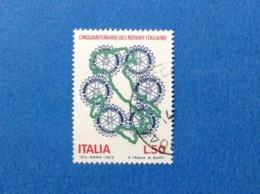 1973 ITALIA ROTARY FRANCOBOLLO USATO STAMP USED - 6. 1946-.. Republic