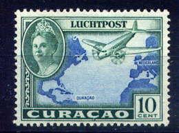 CURACAO - A25** - REINE WILHELMINE / AVION - Curazao, Antillas Holandesas, Aruba