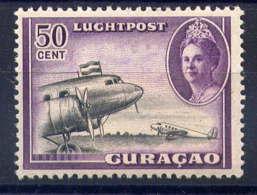CURACAO - A33* - REINE WILHELMINE / AVION AU DECOLLAGE - Curazao, Antillas Holandesas, Aruba