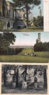 285079Valkenburg, De Drie Beeldjes – Wilhelminatoren 1923 – Ruïne (3 Kaarten) - Valkenburg