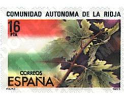 Ref. 258376 * MNH * - SPAIN. 1983. ESTATUTOS DE AUTONOMIA-LA RIOJA - 1981-90 Neufs