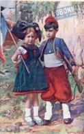 Couple Enfants Alsaciens - Le Retour - Pub Dubonnet  (117104) - Patriotic