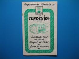 (1947) Coopérative Vinicole De CONGÉNIES (Gard) -- La Carte Des Caves Coopératives Du Gard - Publicités