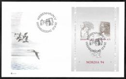 Danmark, Nordia 94, S/Sheet, 1994, FDC - Danimarca