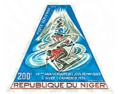 Ref. 71559 * MNH * - NIGER. 1974. 50th ANNIVERSARY OF 1st WINTER OLYMPIC GAMES. CHAMONIX 1924 . 1 JUEGOS OLIMPICOS  INVI - Winter 1924: Chamonix