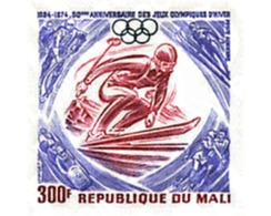 Ref. 71304 * MNH * - MALI. 1974. 50th ANNIVERSARY OF WINTER OLYMPIC GAMES . 50 ANIVERSARIO DE LOS JUEGOS OLIMPICOS DE IN - Winter 1924: Chamonix