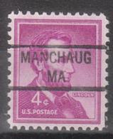 USA Precancel Vorausentwertung Preo, Locals Massachusetts, Manchaug 841 - United States