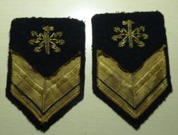 SERGENTE ELETTRICISTI - MARINA MILITARE - GRADI INVERNALI RICAMATI - Usati - Italian Navy PO Ranks - Vintage (174) - Marine