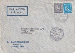 FINLANDE 1954 LETTRE DE HELSINKI - Finland