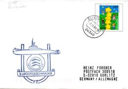 """(UB) BRD Amtlicher GZS-Umschlag USo 19 Mit Cachet-Zudruck """"3.UBOOTGESCHWADER UNTERSEEBOOT U17"""" TSt 7.11.01 ECKERNFÖRDE - Submarines"""