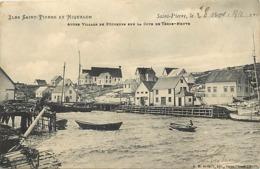 Pays Div -ref U657- Saint Pierre Et Miquelon - St Pierre Et Miquelon -village Pecheurs - Timbres Détachés Du Verso - - Saint-Pierre-et-Miquelon