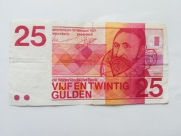 PAESI BASSI 25 GULDEN 1971 - [2] 1815-… : Koninkrijk Der Verenigde Nederlanden